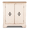 two door commode off white natural