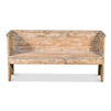 grey hand rubbed reclaimed pine bench back sides
