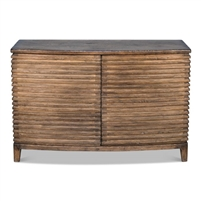 ribbed cabinet reclaimed pine brown