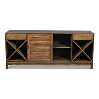 pine wine bar sideboard brown