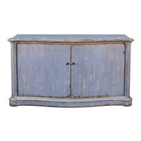 blue sideboard rustic finish