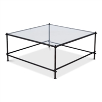 solid iron bar coffee table