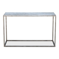 iron marble console table silver