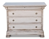 pine wood chest hidden drawer crown molding ring pulls distressed white
