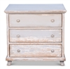 pine wood light gray white natural distressed finish 3-drawers