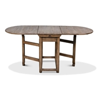 pine drop leaf table brown