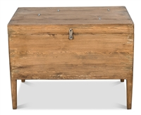 trunk side table pine wood