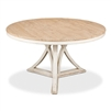 round dining table pine natural distressed whitewash