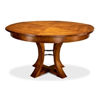 round Jupe dining table medium concave legs tobacco finish