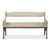 distressed sage green reclaimed pine bench