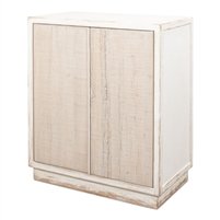 cabinet two-door antique white distressed weathered