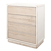 4-drawer chest reclaimed pine antique white distressed weathered