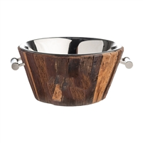cooler bucket wood glass handles