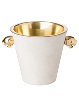 ice bucket wine cooler white brass jaguar handles