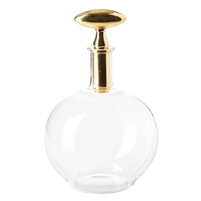 barware decanter brass top glass decor