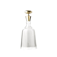 barware brass stopper decanter contemporary glass