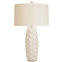 cream drum shade table lamp scale design