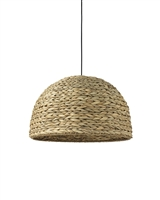 seagrass round hanging pendant light organic natural