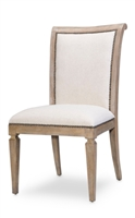 Scroll Back Dining Side Chairs - Gray (pair)