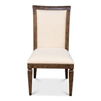 scroll back dining chair light mink