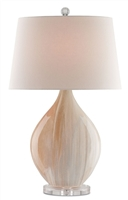 opal ceramic off-white linen table lamp drum shade