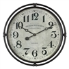 smoke gray round wall clock industrial