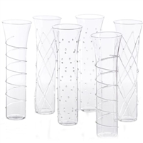 champagne flutes clear accents glass set contemporary