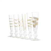 glass gold footed champagne flutes luxury