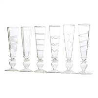 glass clear footed champagne flutes luxury