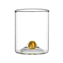 stemless wine glass set gold ball base