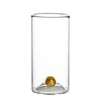 highball glass set gold ball base