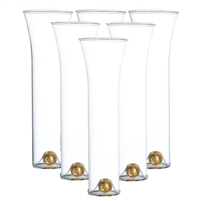 champagne glass set gold ball base
