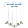 champagne glass set gold ball base blue trim