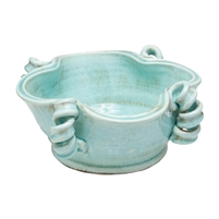 aqua bowl coiled accents free-form shape