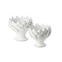 off white footed centerpiece artichoke decor