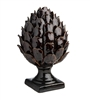 brown ceramic pedestal artichoke