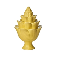 artichoke yellow tulipiere organic tulip holder ceramic