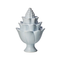 artichoke light blue tulipiere organic tulip holder ceramic