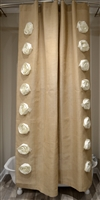 Natural Burlap Rose 72x96 Shower Curtain