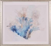 blue coral giclee wall art