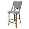 white black bistro counter chair woven natural frame