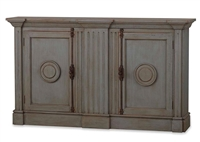 wood sideboard gray