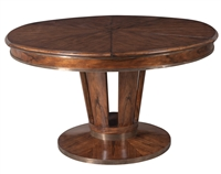 Sarreid, Ltd. dining table adjustable expandable round wood contemporary round brown