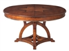 Sarreid, Ltd. round dining table expandable adjustable stored hidden leaves