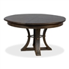 round Jupe dining table medium gray finish contemporary transitional expandable