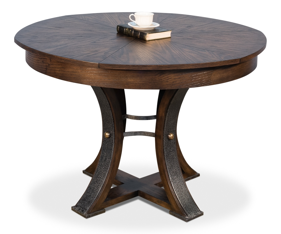 Tower Jupe Dining Table Burnt Brown Finish Small