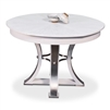 round Jupe dining table expandable contemporary white finish