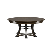 round dining table Jupe Artisan Grey transitional 6-legs