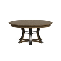 round dining table Jupe Light Mink transitional 6-legs