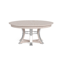 round dining table Jupe whitewash contemporary 6-legs